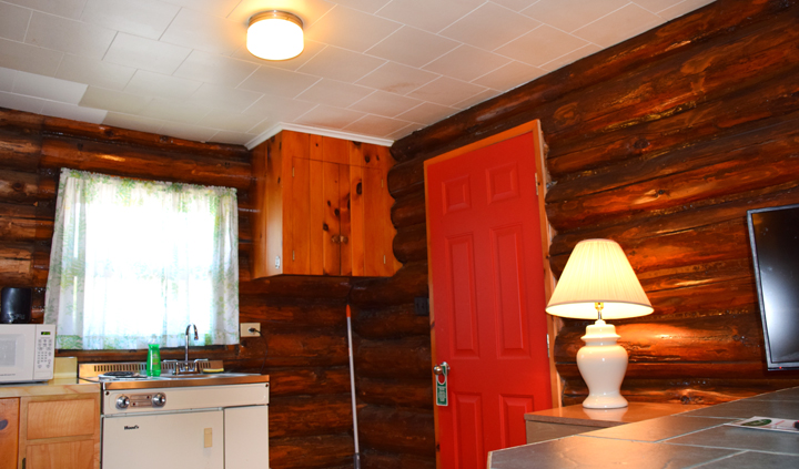 Adirondack Log Cabins: Studio Log Cabin 32 (The Mohican) One Room Cabin  With Private Deck