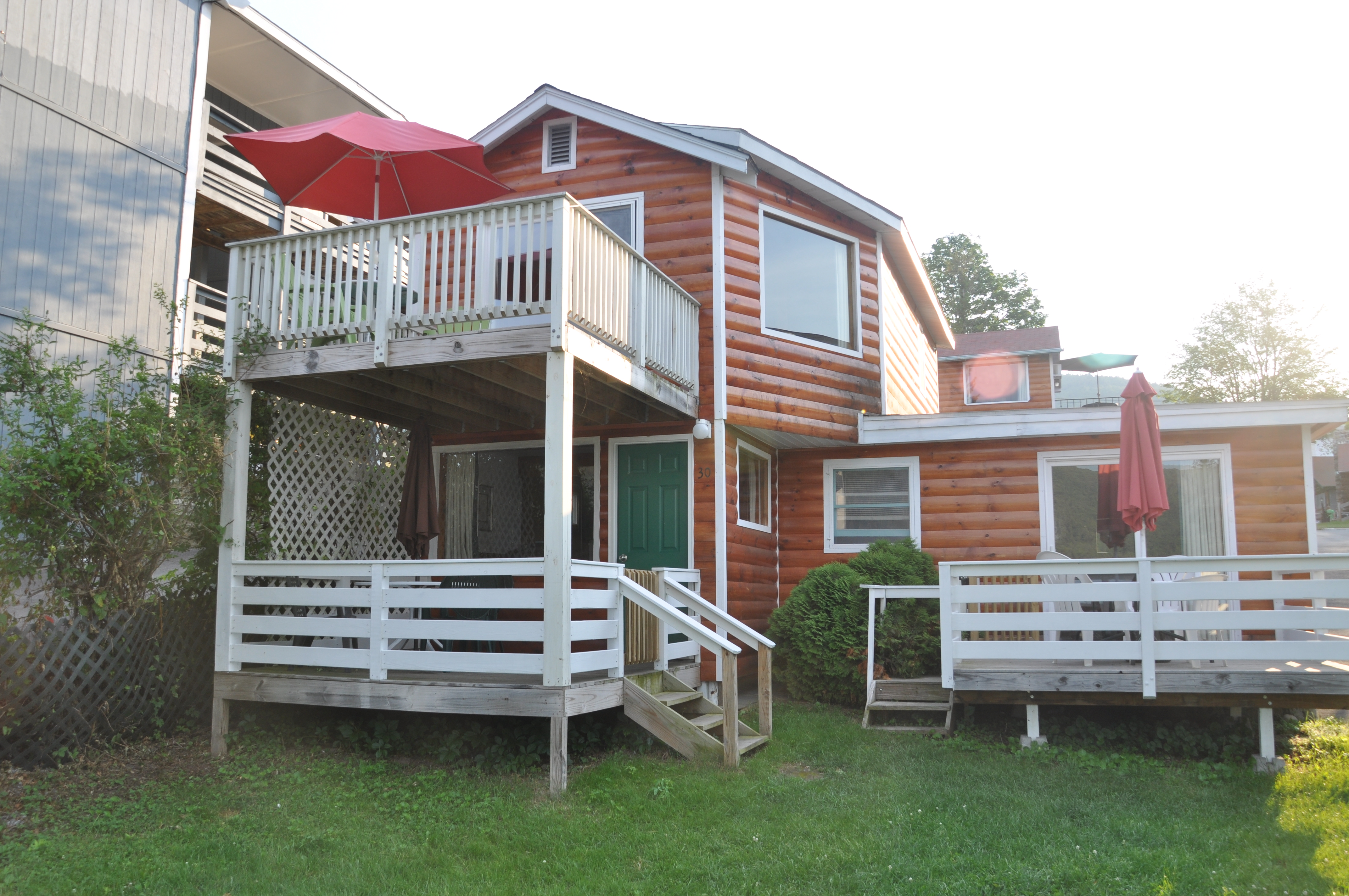 for waterfront lake beautiful tachick sale george cabins prince a flowering bc campground trees property in